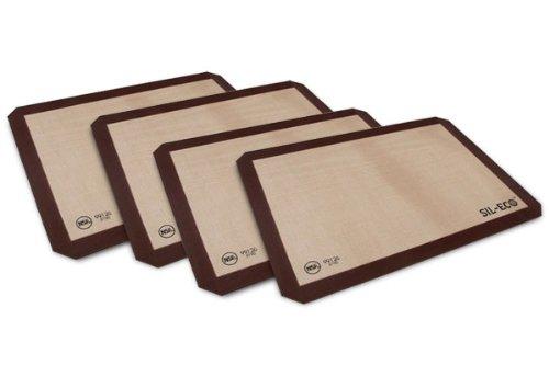 4-piece Sil-Eco US Half Sheet Silicone Nonstick Baking Mat Set