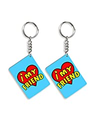 Gift For Friend & Friendship Day Gift Set Of 2 Keychain Design 8