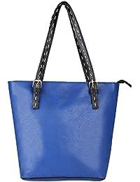 Pink Rose - Elegant Collection Blue Charm Tote Bag
