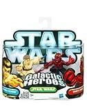 Star Wars 2010 Galactic Heroes 2Pack Darth Maul ObiWan Kenobi