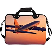 """Snoogg Towards The Sunset 12"""" 12.5"""" 12.6"""" Inch Laptop Notebook SlipCase With Shoulder Strap Handle Sleeve Soft..."""