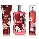 Bath & Body Works Signature Collection Japanese Cherry Blossom Gift Set ~ Body Cream ~ Shower Gel & Fragance Mist ~