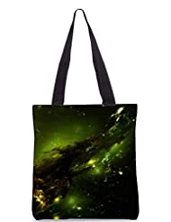 Snoogg Abstract Space Poly Canvas Tote Bag