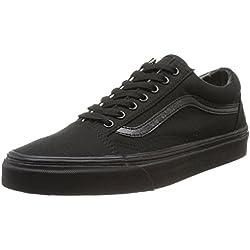 Vans U OLD SKOOL BLACK/BLACK - Zapatillas de lona unisex, Negro (Nero (Schwarz/Black/Black)), 43