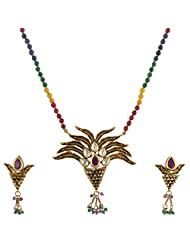 Ashapura Gold Plated Necklace With Studs For Women - P0303