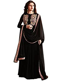 Aryan Fashions Black Anarkali Dress Salwar Suit For Women Party Wear Stitched For Girls For Specail Uses In Wedding...