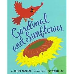 Cardinal and Sunflower