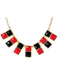 Voylla Stylish Necklace Studded With Red And Black Beads