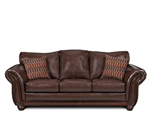 Amazon Simmons Upholstery Santa Monica Vintage Queen Size Leather Sofa Sleeper Leather