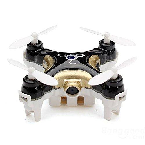 Haibei Cheerson Mini Drone Cx10 versione di aggiornamento Cx10c Nano Quadcopter Hexacopter con fotocamera 0.3MP HD (Nero)