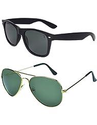 Zyaden COMBO Of Wayfarer Sunglasses & Aviator Sunglasses (Combo-35)