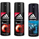 Adidas Team Force-2, Ice Dive-1 Deo Combo Pack , (Pack Of 3)