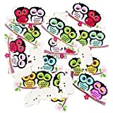 Alcoa Prime 100x Owl Shape 2-holes Wooden Scrapbooking Flatback Buttons For Kids Crafts