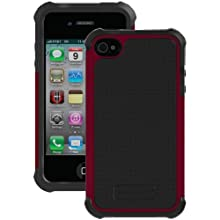 Ballistic SA0582-M025 Soft Gel Case For IPhone 4/4S - 1 Pack- Retail Packaging - Grey/Plum
