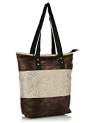 Home Heart Women's Eco Friendly Tote Bag (Brown/Silver)