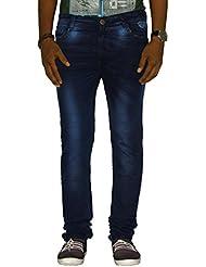 Jugend Dark Blue Stretchable Skinny Fit Jeans For Men