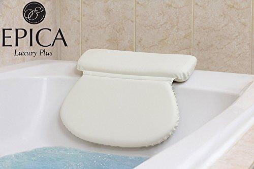 Bath Spa Pillow Cushion Neck Back Support Foam Comfort Bathtub Tub W Suction 754436544958 Ebay