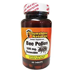 Amazon.com: Sunshine Naturals Bee Pollen Chewable: Health