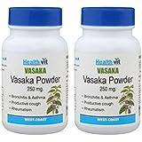Healthvit Vasaka Powder 250 Mg - 60 Capsules (Pack Of 2)