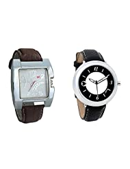 Gledati Men's White Dial & Foster's Women's White Dial Analog Watch Combo_ADCOMB0002274