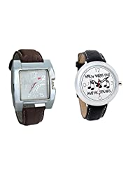 Gledati Men's White Dial & Foster's Women's White Dial Analog Watch Combo_ADCOMB0002259