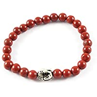 Eshoppee Natural Stone Buddha Bracelet With Silver Buddha Bead For Men And Women - B01LCLULTK