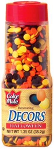 Cake Mate Halloween Pumpkin Decors, 1.95 Ounce Units (Pack of 12)