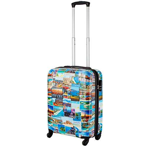 Cabin Max Icon Valise trolley cabine 4 roues Abs rigide 55 x 40 x 20 cm (Cartes postales)