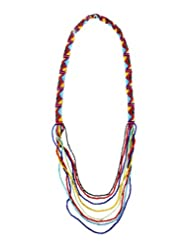Chic Collection Multi Seed Bead Pattern Necklace For Women