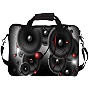"""Snoogg Music Speakers 12"""" 12.5"""" 12.6"""" Inch Laptop Notebook SlipCase With Shoulder Strap Handle Sleeve Soft Case..."""