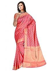Sehgall Saree Women Silk Saree (A1487 _Pink _Free Size)