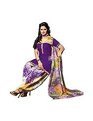 Purple Occasion Wear Dress Material