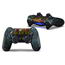 Elton PS4 Controller Designer 3M Skin For Sony PlayStation 4 DualShock Wireless Controllers (set Of Two Controllers Skin) - F.C.B (Green With Shield Soccer Football)