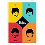 """Lab No. 4 All You Need Is Love """"The Beatles"""" Lyrics Quote Poster A3 Size"""