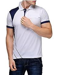 Scott Dryfit T.shirt For Men White With Navy Blue