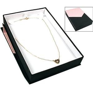 Amazon.com - Pink & Black Magnetic Lid Necklace Pendant