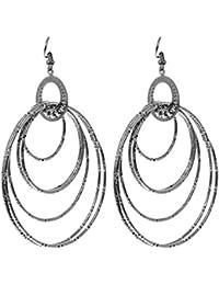 Eternz Silver Plated Drop Earrings For Women (EZEA014)