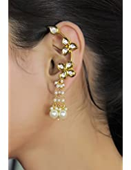 Gorgeous Bollywood Style Gold Tone Ear Cuff Earring Indian Wedding Jewelry