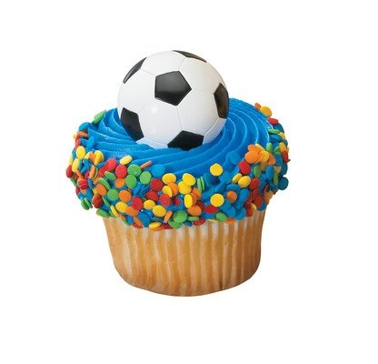 Soccer Ball Cupcake Rings (24-Pack)