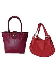 Arc HnH Women Handbag Combo Diva Pink+ Palatial Red