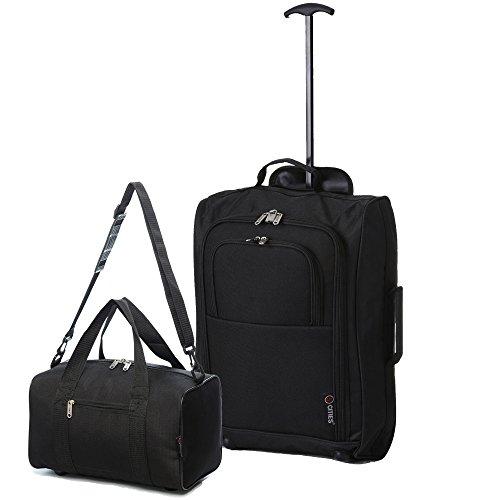 Ryanair Cabine 55x 40x 20cm & Deuxième 35x 20x 20de bagages à main-de transport sur les deux.