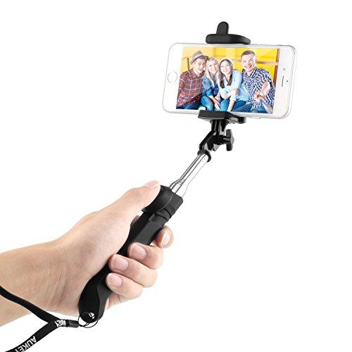 AUKEY Palo Selfie Bluetooth Portátil Telescópico Inalámbrico Contol Remoto para...