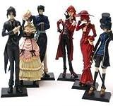 Anime Kuroshitsuji Black Butler Character 6 Piece Figure Set