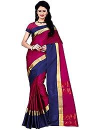 Trendz Cotton Silk Saree (Tz_Himansi_Pink_Pink)