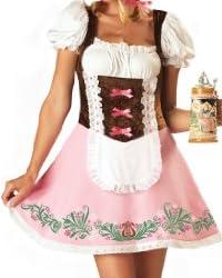 ドイツの女の子 アルプススタイル 大人用コスチューム♪ハロウィン♪サイズ:Medium