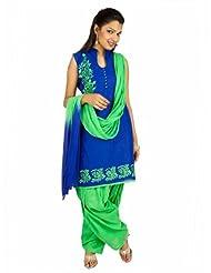 Fashiontra Women's Cotton Straight Cut Salwar Suit - B00KNW2DPA