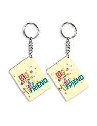 Gift For Friend & Friendship Day Gift Set Of 2 Keychain Design 6