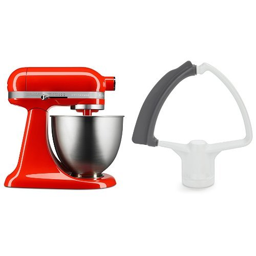 KitchenAid KSM3311XHT Artisan Mini with Flex Edge Beater, Hot Sauce, 3.5 Quart