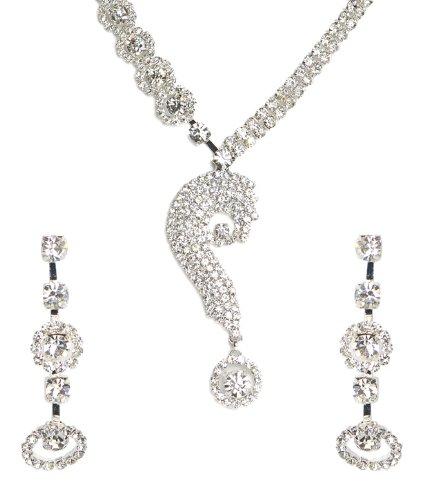 Shining Diva Elegant Curl Necklace Set For Women