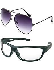 MagJons Black Aviator And White Driving Sunglasses Set Of 2 (With Box)